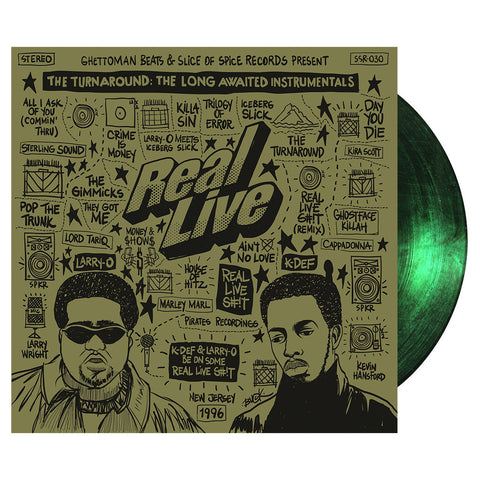 "[""Real Live - 'The Turnaround (The Long Awaited Instrumentals) (Special Edition)' [(Green) Vinyl [2LP]]""]"