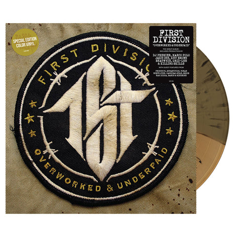 First Division - 'Overworked & Underpaid (Special Edition)' [(Gold & Black Splatter) Vinyl [2LP]]