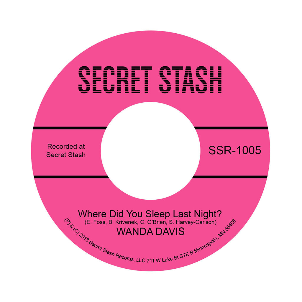 "<!--020140304062257-->Wanda Davis - 'Where Did You Sleep Last Night?' [(Black) 7"" Vinyl Single]"