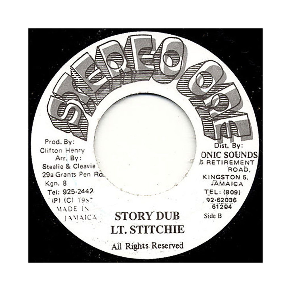 "Lt. Stitchie - 'Story Time' [(Black) 7"" Vinyl Single]"