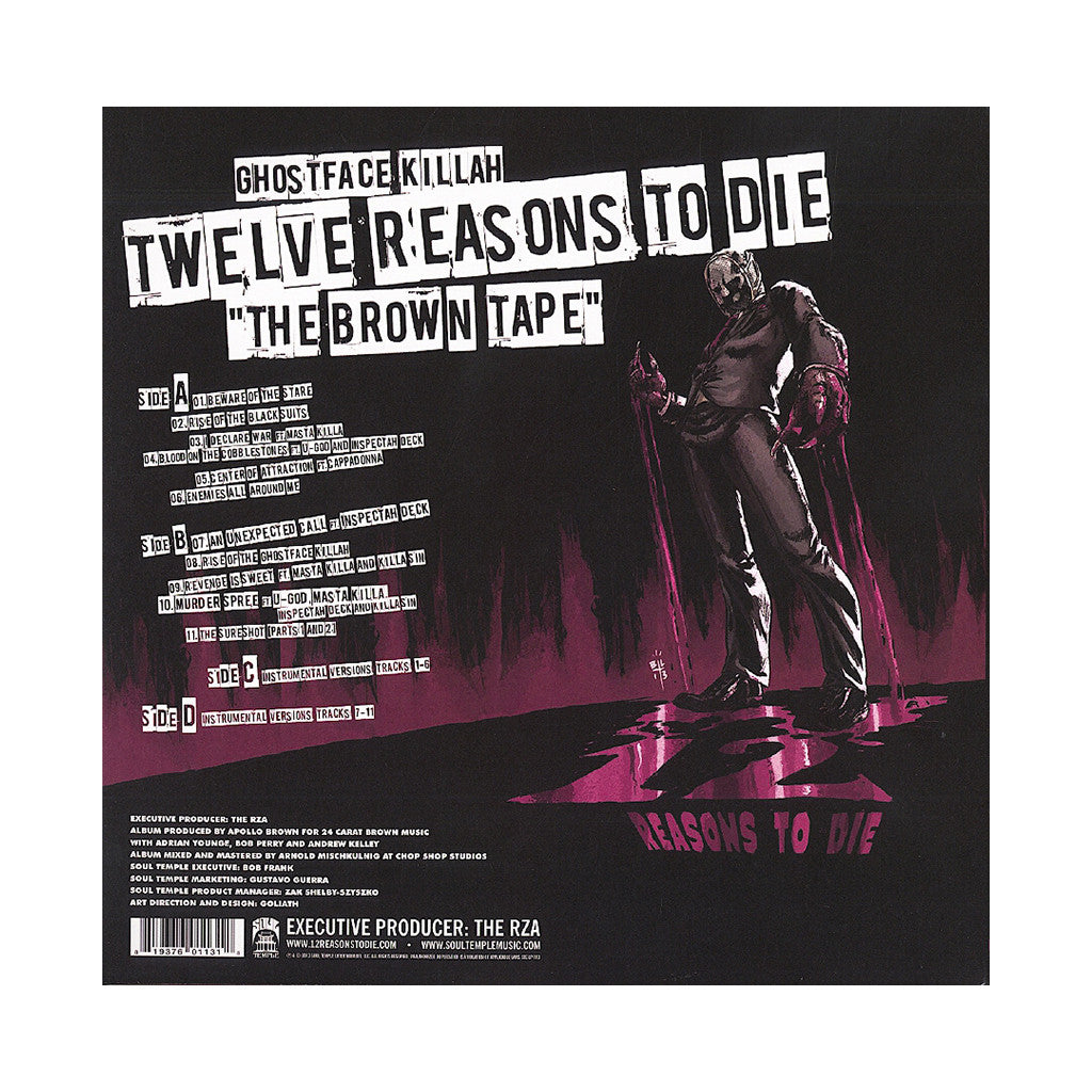 Ghostface Killah & Apollo Brown - 'Twelve Reasons To Die: The Brown Tape' [(Black) Vinyl [2LP]]