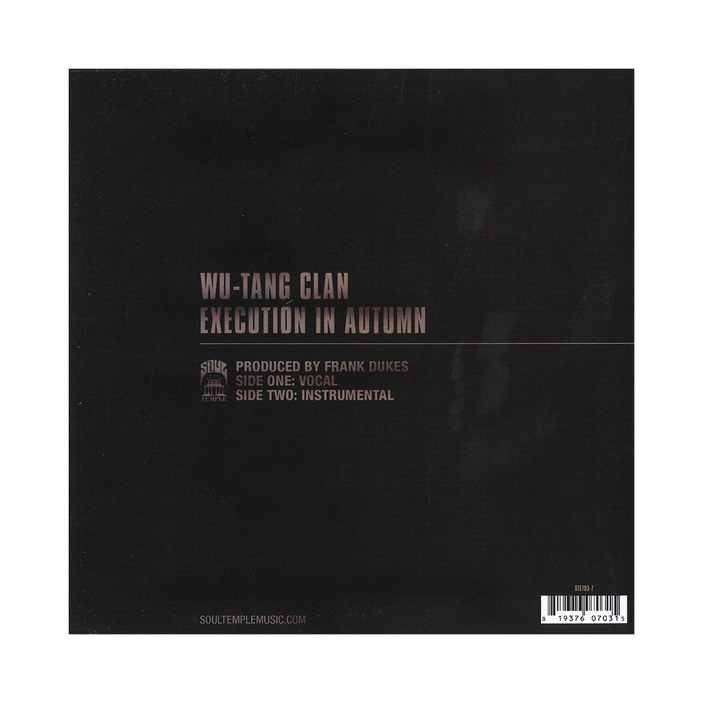 "<!--120130827058359-->Wu-Tang Clan - 'Execution In Autumn' [(Black) 7"" Vinyl Single]"