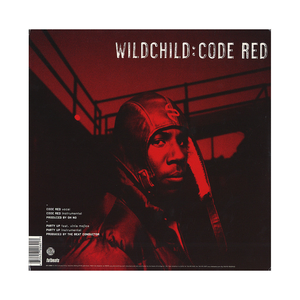 "<!--020030408011385-->Wildchild - 'Code Red/ Party Up' [(Black) 12"" Vinyl Single]"