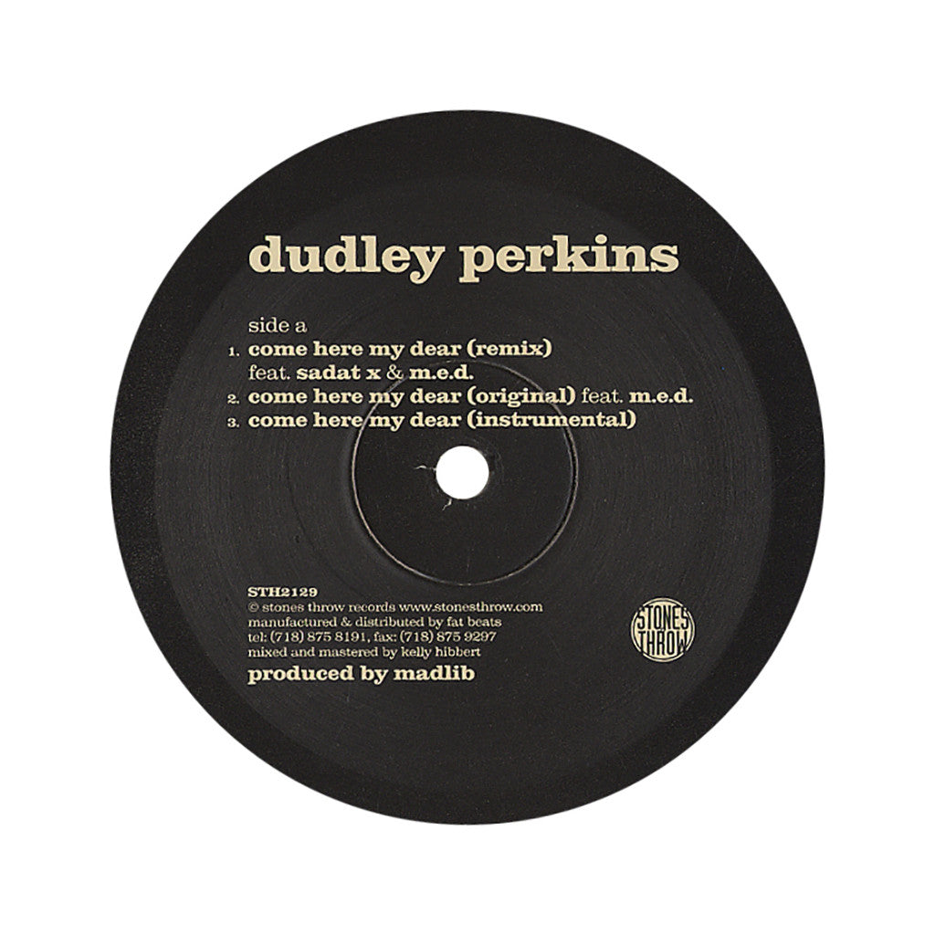 <!--2007010302-->Dudley Perkins - 'Come Here My Dear (Remix)' [Streaming Audio]