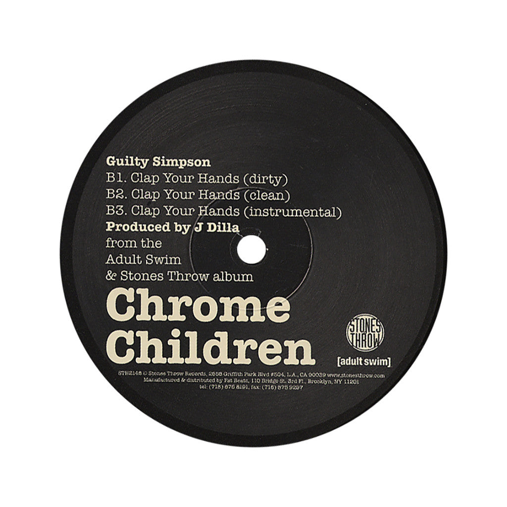 "Madlib b/w Guilty Simpson - 'Take It Back b/w Clap Your Hands' [(Black) 12"" Vinyl Single]"