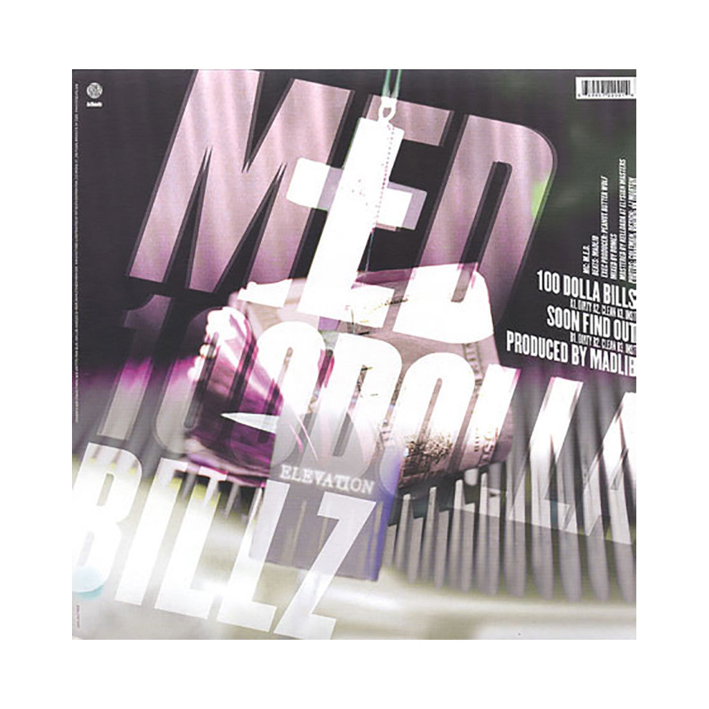 "<!--020090602016950-->MED - '100 Dolla Billz/ Soon Find Out' [(Black) 12"" Vinyl Single]"