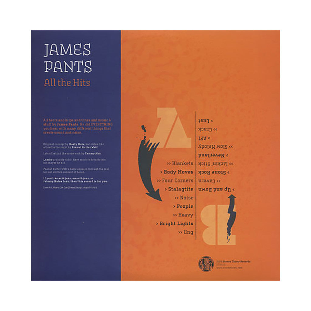 James Pants - 'All The Hits' [(Black) Vinyl LP]