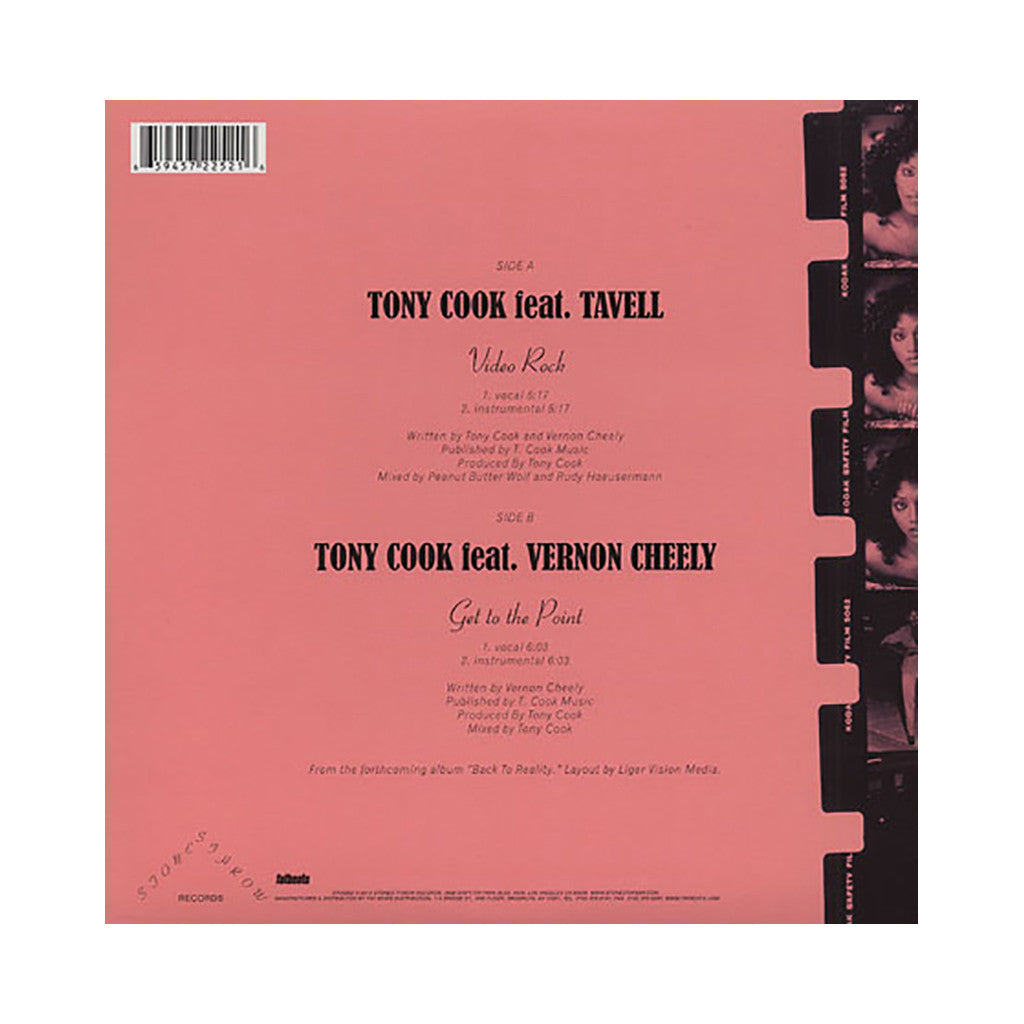 "Tony Cook - 'Video Rock/ Get To The Point' [(Black) 12"" Vinyl Single]"