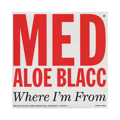 "<!--020101019024047-->MED - 'Where I'm From/ Classic' [(Black) 12"""" Vinyl Single]"