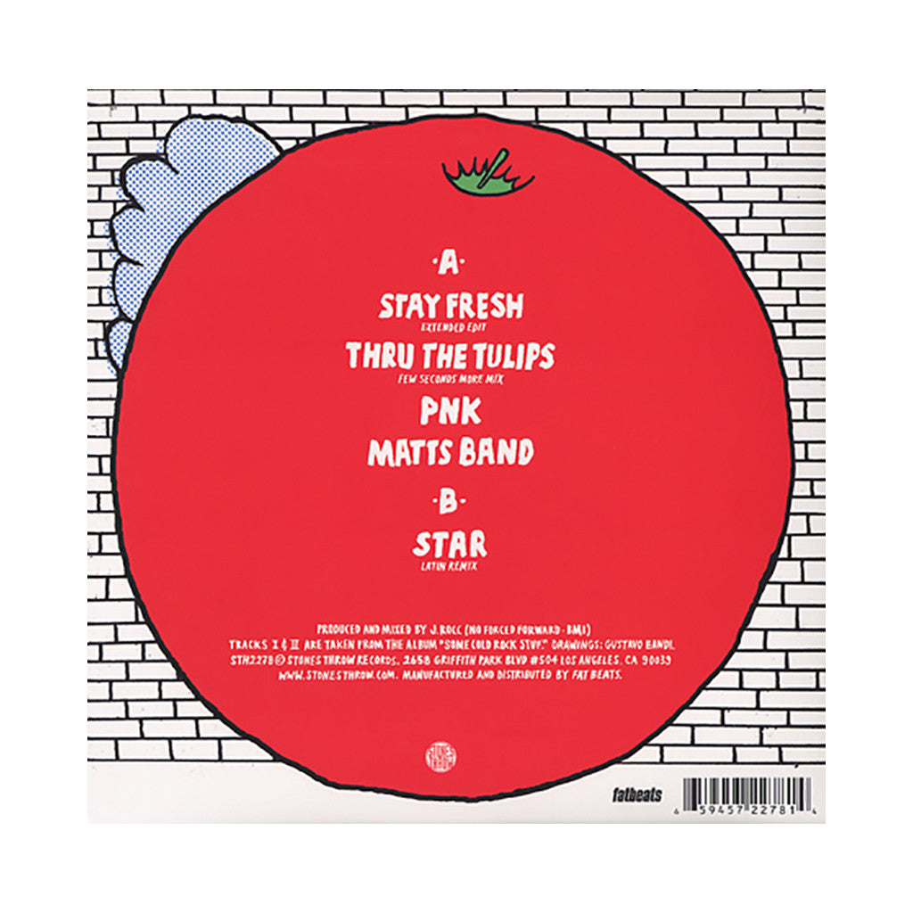 "J. Rocc - 'Stay Fresh/ Thru The Tulips/ PNK/ Matts Band/ Star (Latin Remix)' [(Black) 12"" Vinyl Single]"
