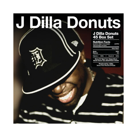 "[""J Dilla - 'Donuts: 45 Box Set' [(Black) 7\"" Vinyl Single [8x7\""]]""]"