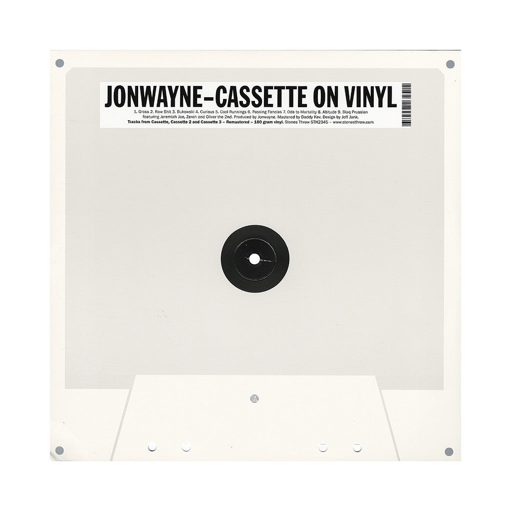 <!--120140722064301-->Jonwayne - 'Cassette On Vinyl' [(Black) Vinyl LP]