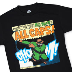 <!--2009100602-->Madvillain - 'All Caps!' [(Black) T-Shirt]