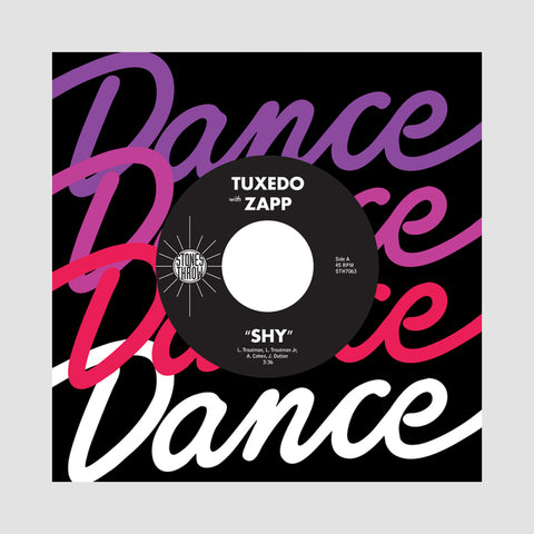 "[""Tuxedo & Zapp - 'Shy' [(Black) 7\"" Vinyl Single]""]"