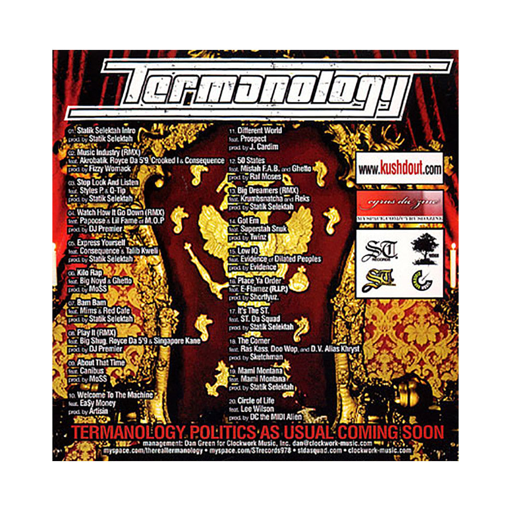 <!--020080506013721-->Termanology - 'Da Cameo King' [CD]