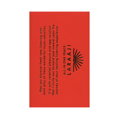 Laraaji - 'All In One Peace' [(Black) Cassette Tape]