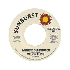 "Melvin Bliss - 'Synthetic Substitution/ Reward' [(Black) 7"" Vinyl Single]"