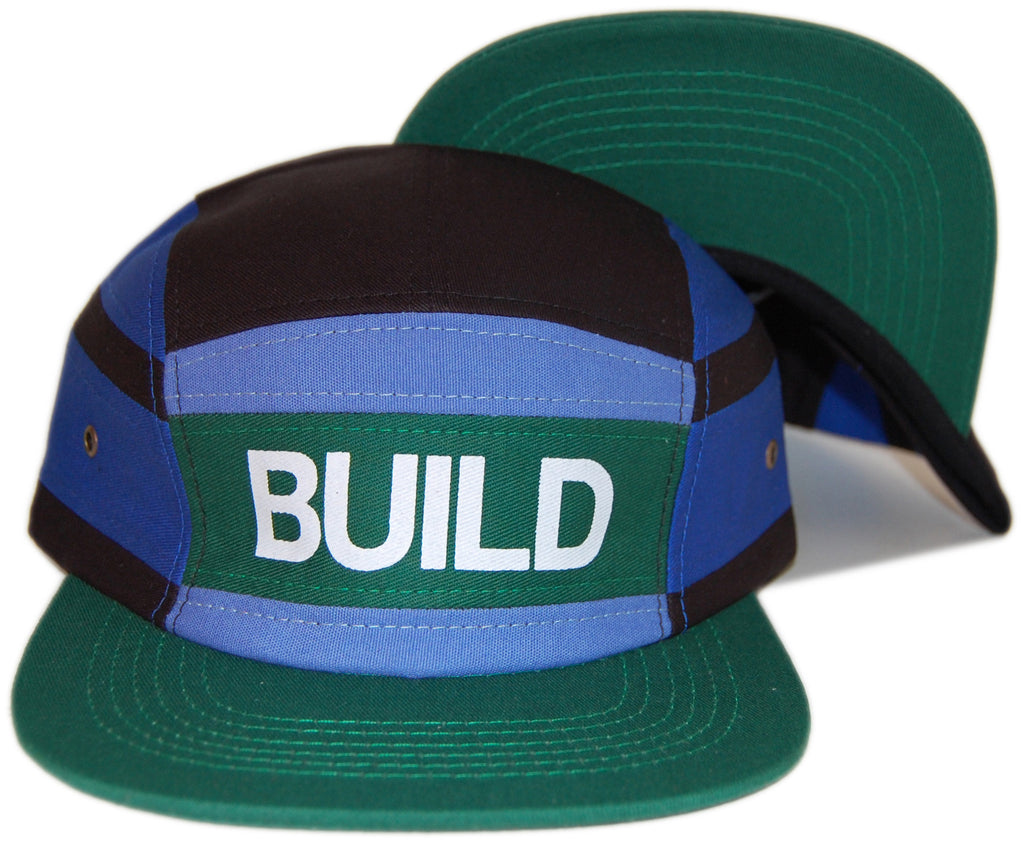 <!--020130326055143-->Sun Cycle Limited - 'Build' [(Green) Five Panel Camper Hat]
