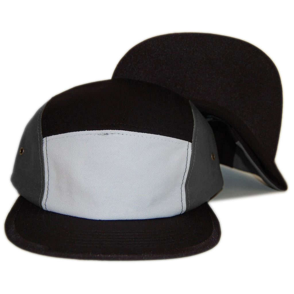 Sun Cycle Limited - 'Ninety Five - Gray/ White' [(Black) Five Panel Camper Hat]