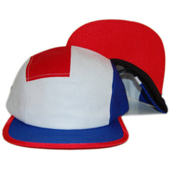 Sun Cycle Limited - 'USA Shield - Red/ White' [(Blue) Five Panel Camper Hat]