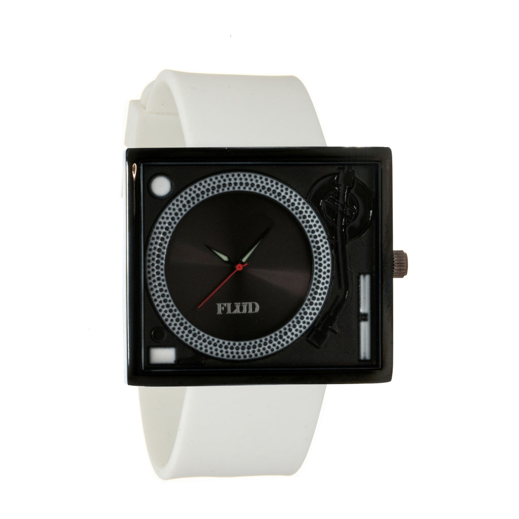 <!--020120619046319-->FLuD Watches - 'Tableturns - Black/ White' [(White) Watch]