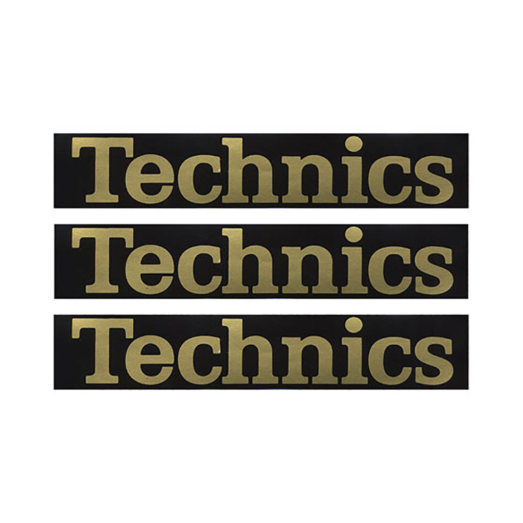 <!--020100525021490-->Technics - 'Official Gold Sticker Pack (X 4)' [Sticker]