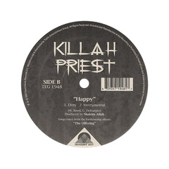 "Killah Priest - 'Gun For Gun (Rivers Of Blood)/ Happy' [(Black) 12"" Vinyl Single]"