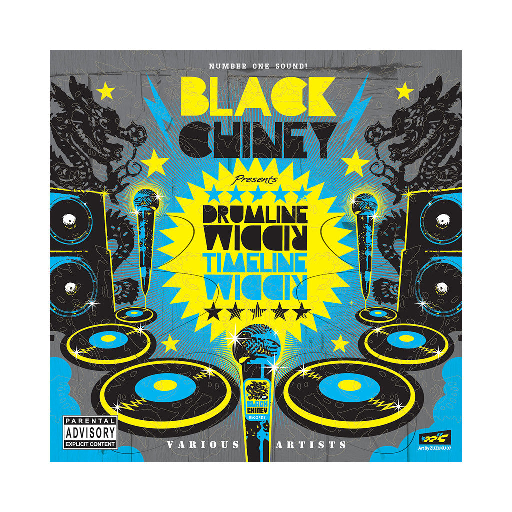 <!--120070508009691-->Black Chiney - 'Drumline Riddim & Timeline Riddim' [(Black) Vinyl [2LP]]