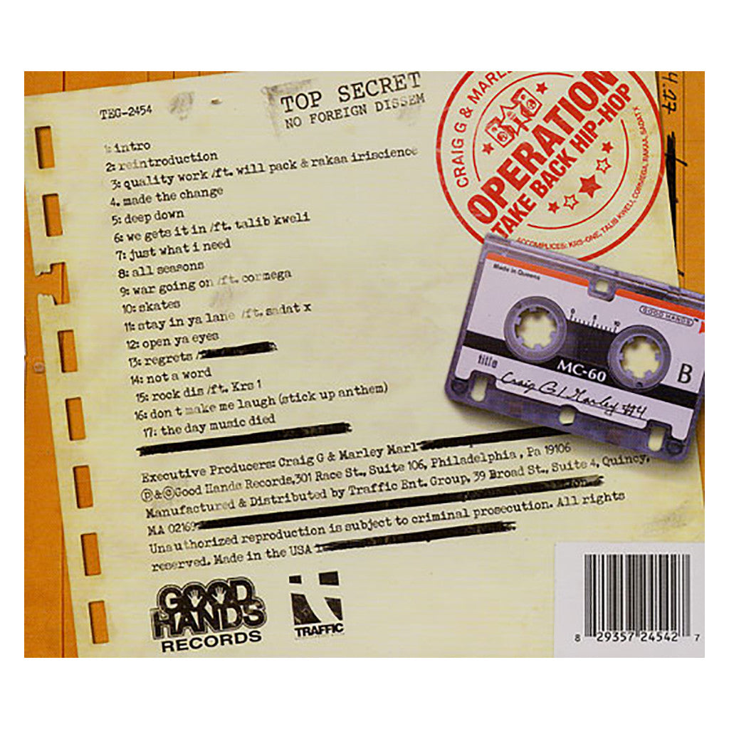 Craig G & Marley Marl - 'Operation Take Hip Hop Back' [CD]
