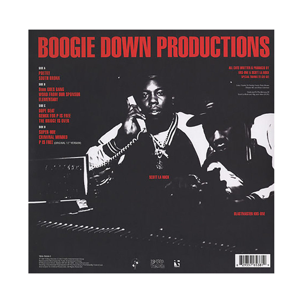 <!--020110628032523-->Boogie Down Productions - 'Criminal Minded (Remastered)' [(Black) Vinyl [2LP]]