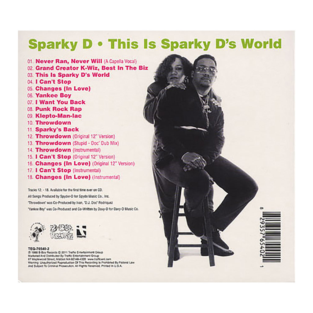 Sparky D - 'This Is Sparky D's World (Extended)' [CD]