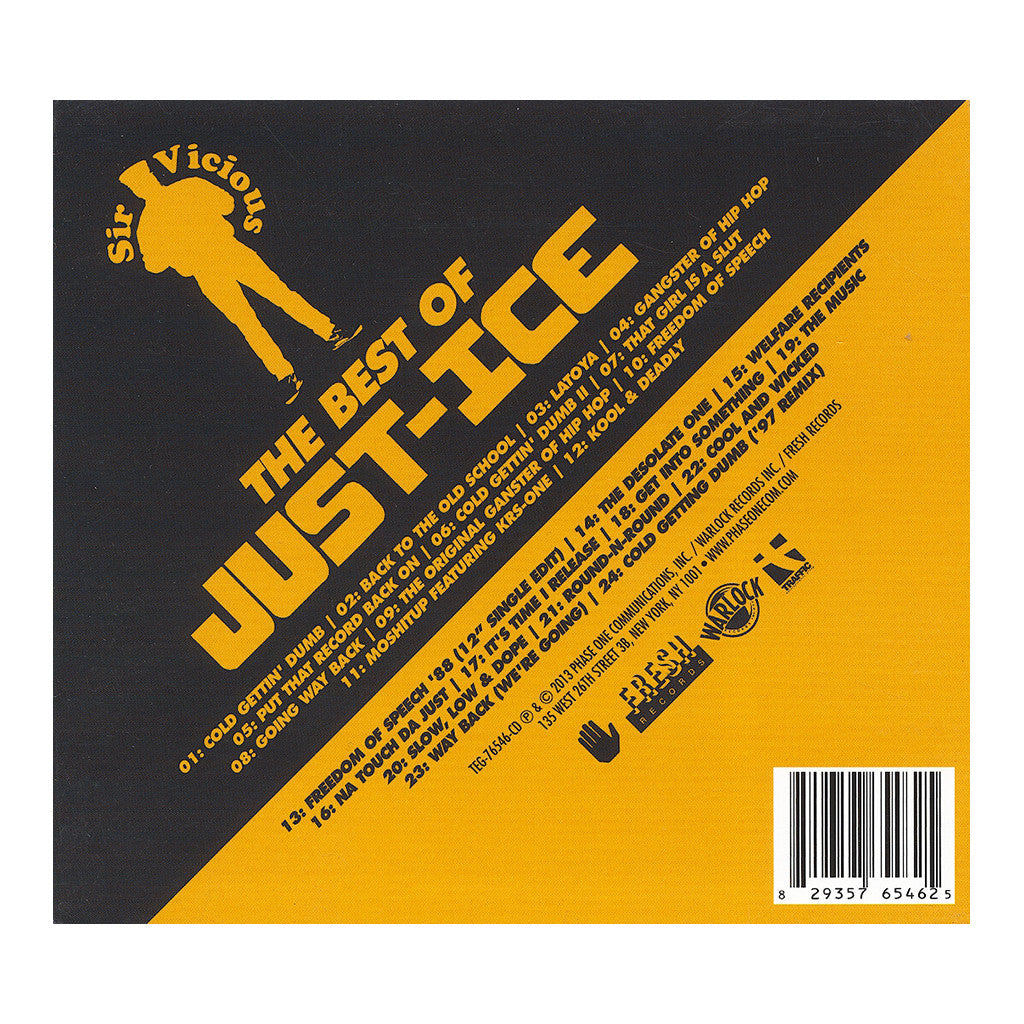 Just-Ice - 'Sir Vicious: The Best Of Just-Ice' [CD [2CD]]