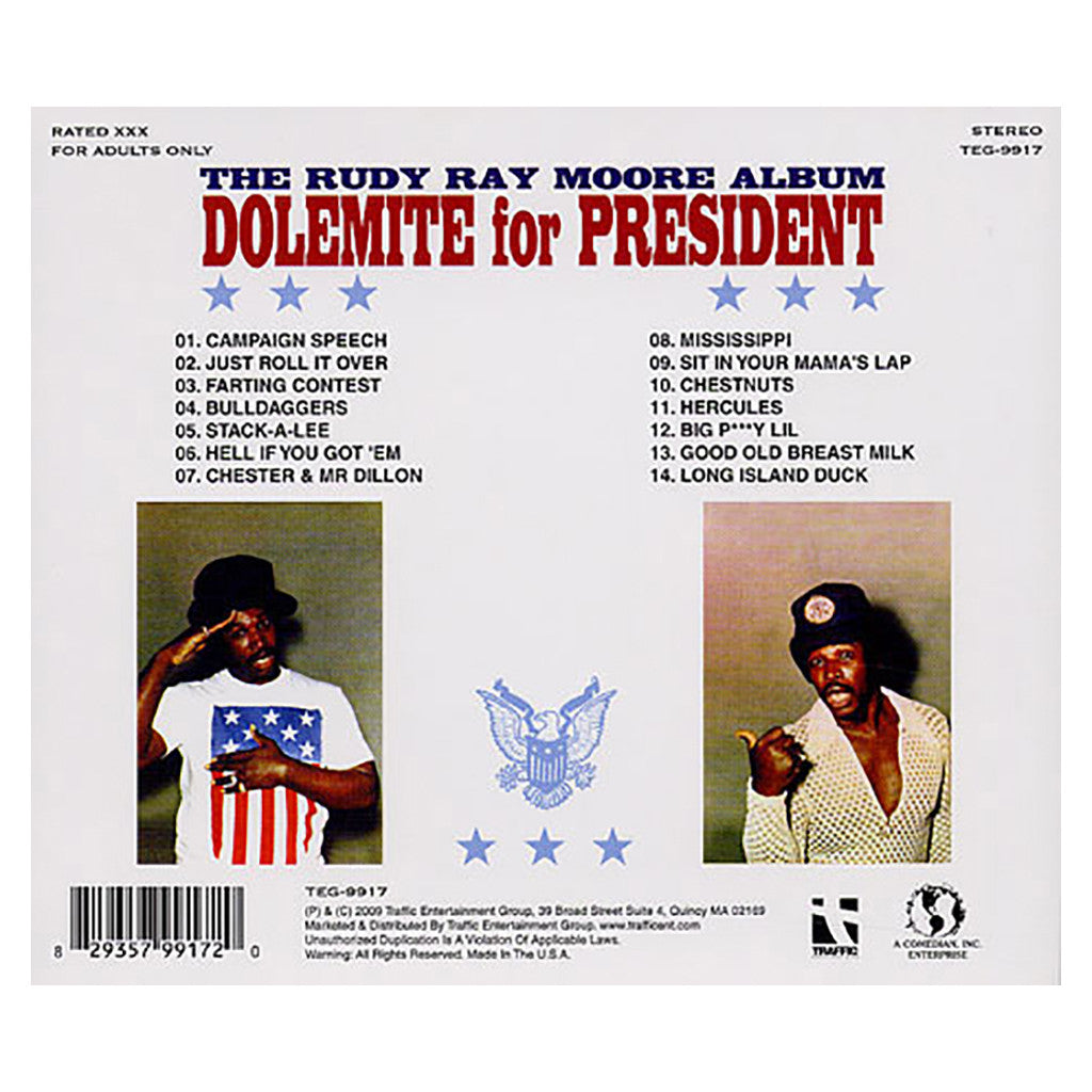 <!--020090120015681-->Rudy Ray Moore - 'Dolemite For President' [CD]