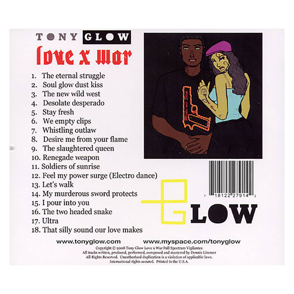Tony Glow - 'Love x War' [CD]