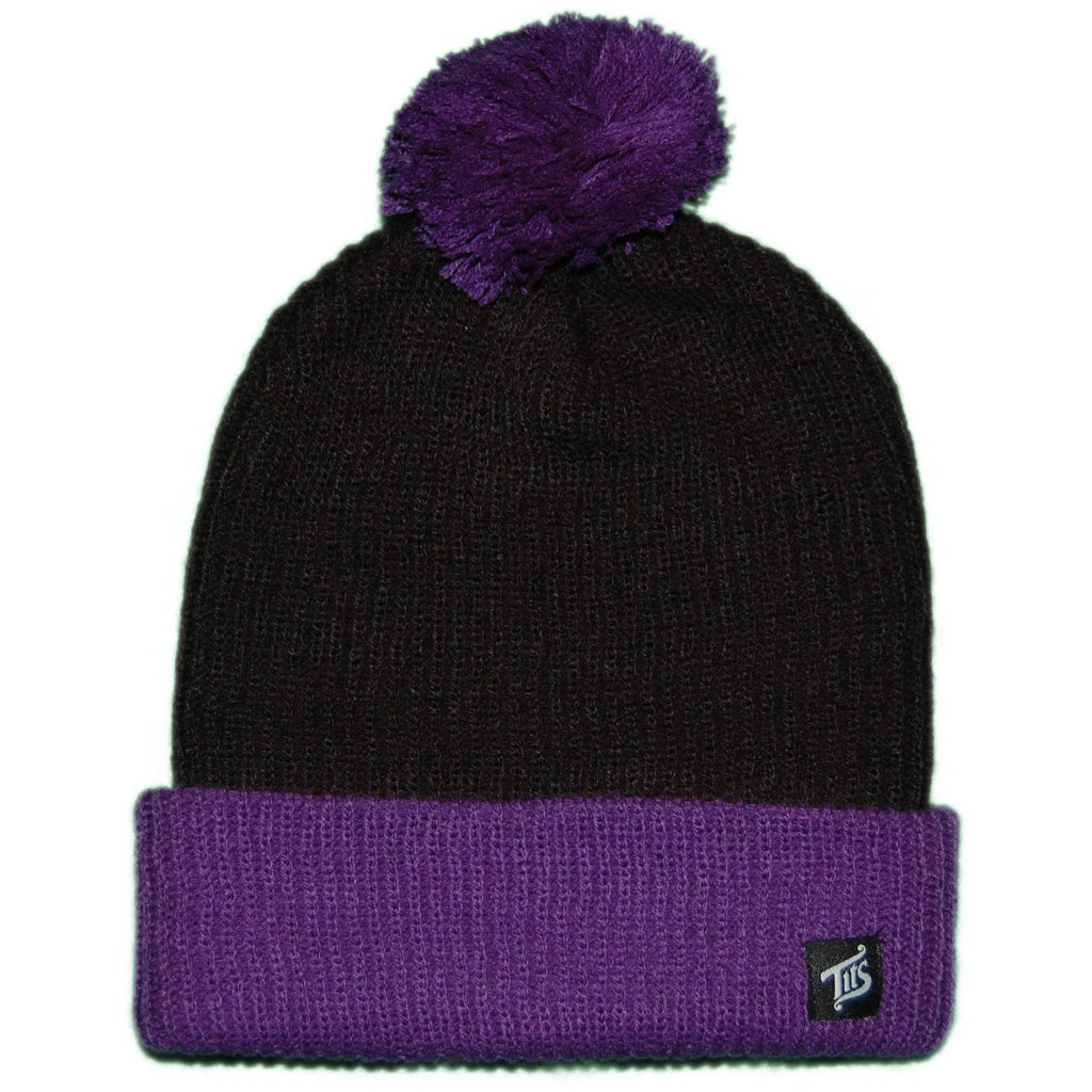 <!--020111122038156-->T.I.T.S. - 'Nipple Top Beanie' [(Black) Winter Beanie Hat]