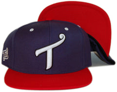"<!--020131001059899-->T.I.T.S. - 'Letterman """"T""""' [(Dark Blue) Snap Back Hat]"