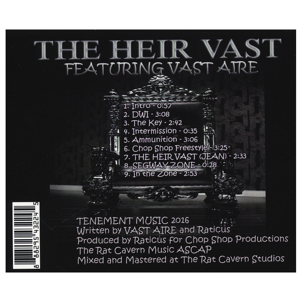 Vast Aire & Raticus - 'The Heir Vast EP' [CD]
