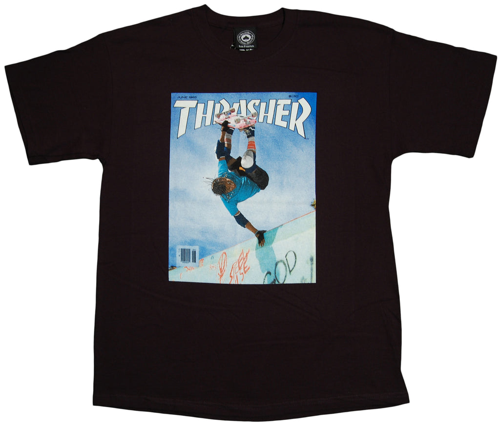<!--2011110112-->Thrasher Magazine - 'Classic Cab Cover' [(Black) T-Shirt]
