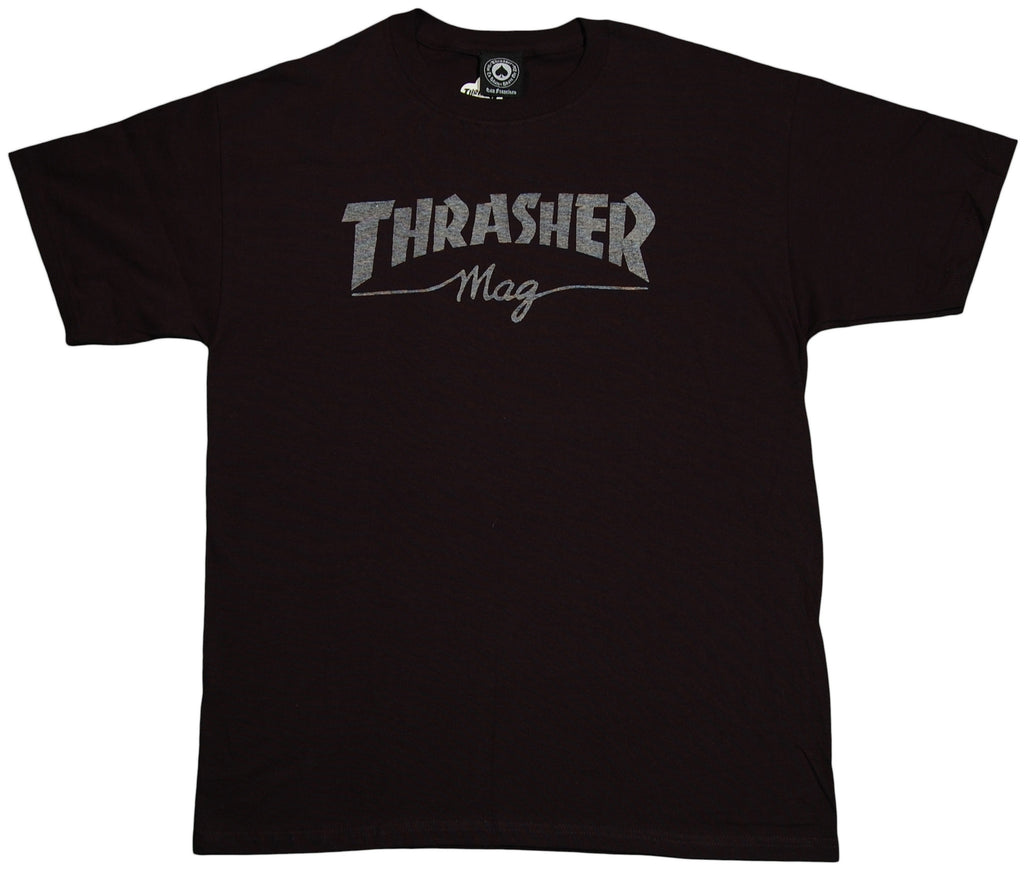<!--2011110122-->Thrasher Magazine - 'Mag Logo' [(Black) T-Shirt]