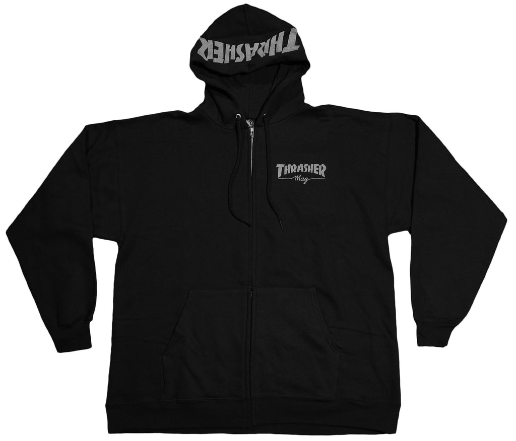 <!--2011110125-->Thrasher Magazine - 'Mag Logo' [(Black) Hooded Sweatshirt]