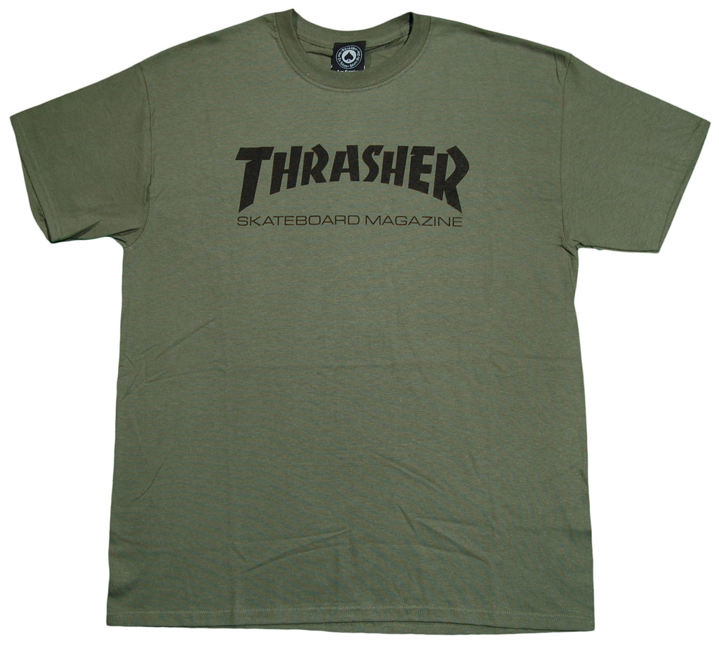 <!--2012100258-->Thrasher Magazine - 'Skate Mag' [(Dark Green) T-Shirt]