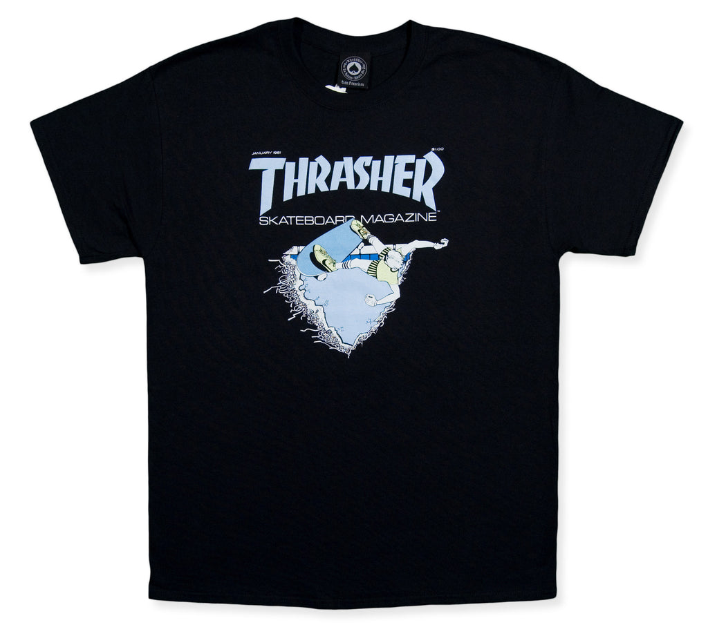 <!--2013112501-->Thrasher Magazine - 'First Cover' [(Black) T-Shirt]