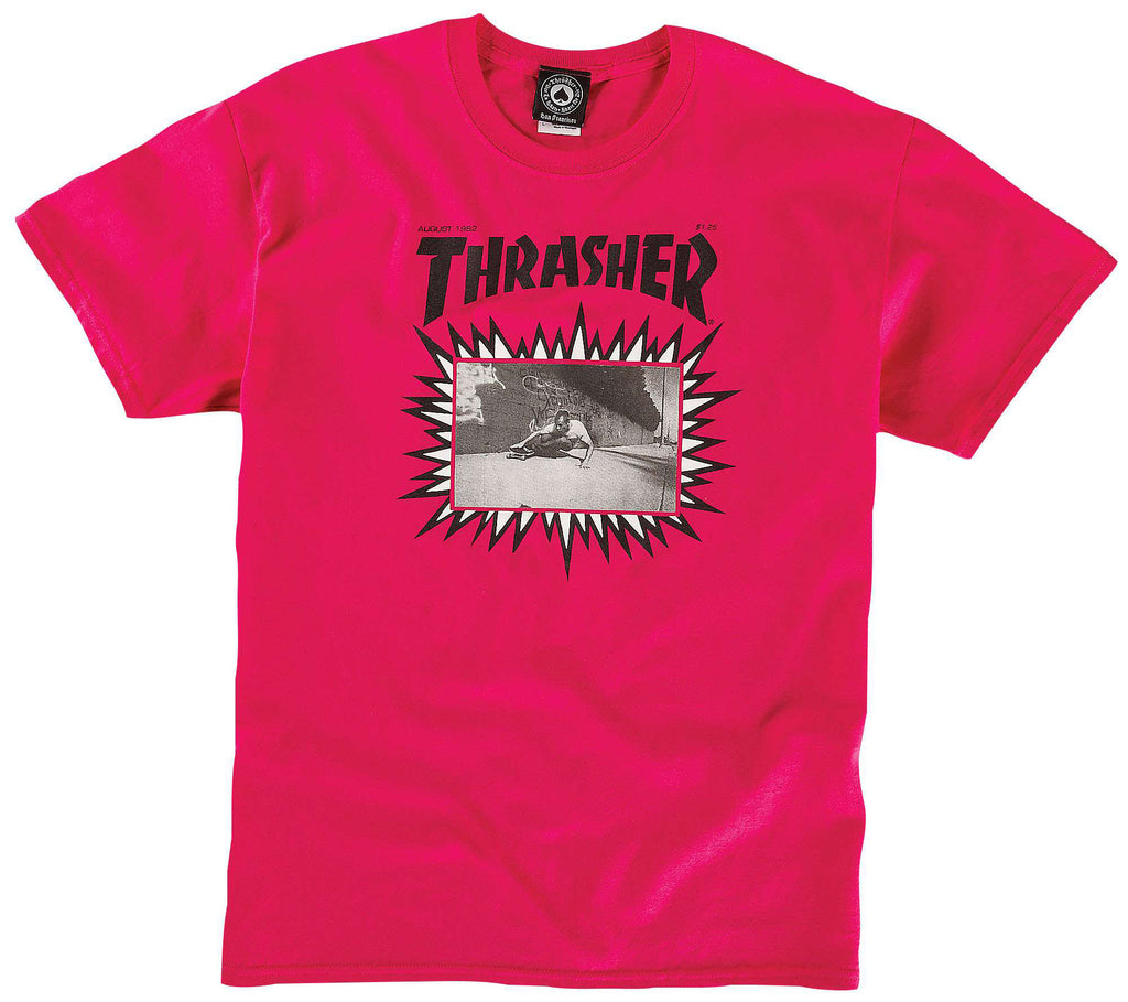 <!--2014050635-->Thrasher Magazine - 'Jay Adams Explosive Cover' [(Pink) T-Shirt]