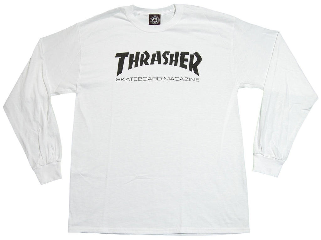 <!--2011041942-->Thrasher Magazine - 'Skate Mag' [(White) Long Sleeve Shirt]