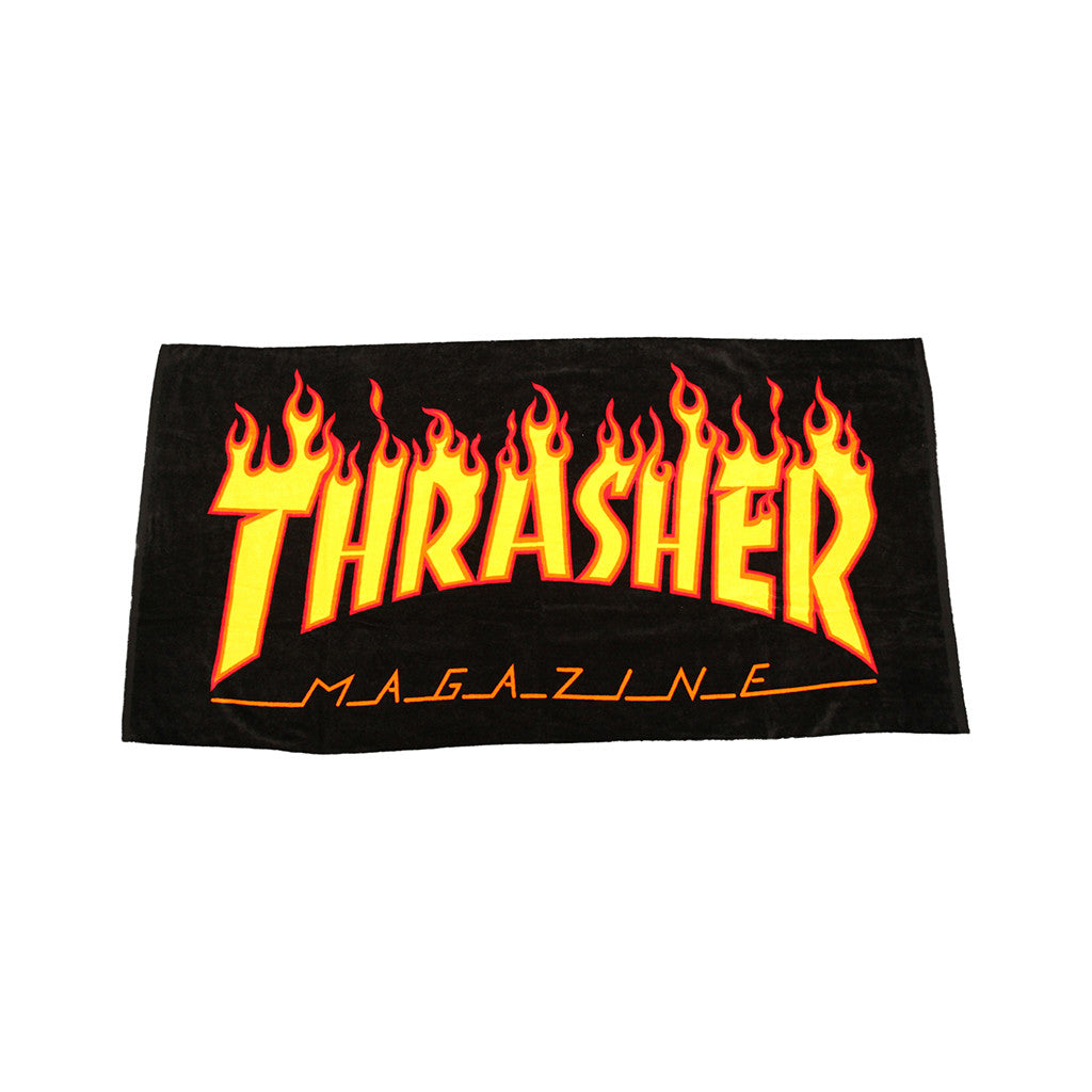 <!--020121002049814-->Thrasher Magazine - 'Flame Logo' [(Multi-Color) Beach Towel]