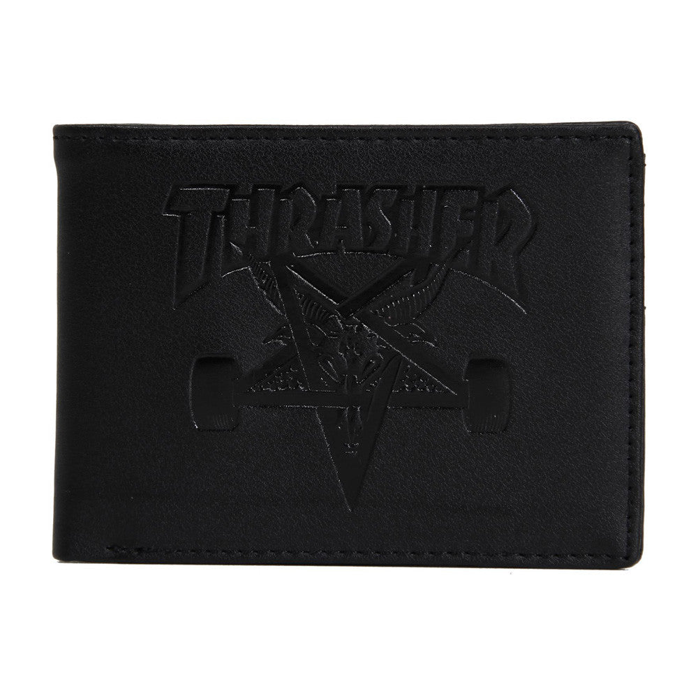 <!--020150319068839-->Thrasher Magazine - 'SK8 Goat Leather' [(Black) Wallet]