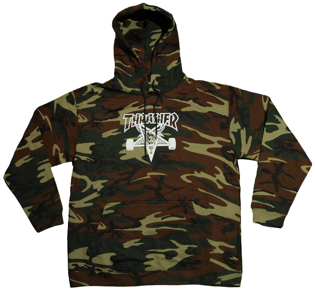 <!--2012121805-->Thrasher Magazine - 'SK8 Goat' [(Camo Pattern) Hooded Sweatshirt]