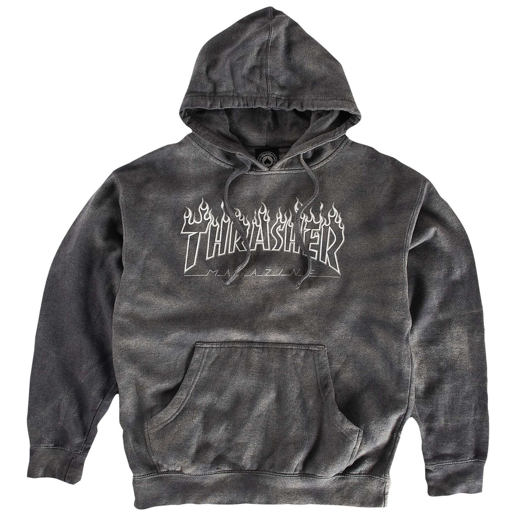<!--2014050609-->Thrasher Magazine - 'Silver Flame' [(Gray) Hooded Sweatshirt]