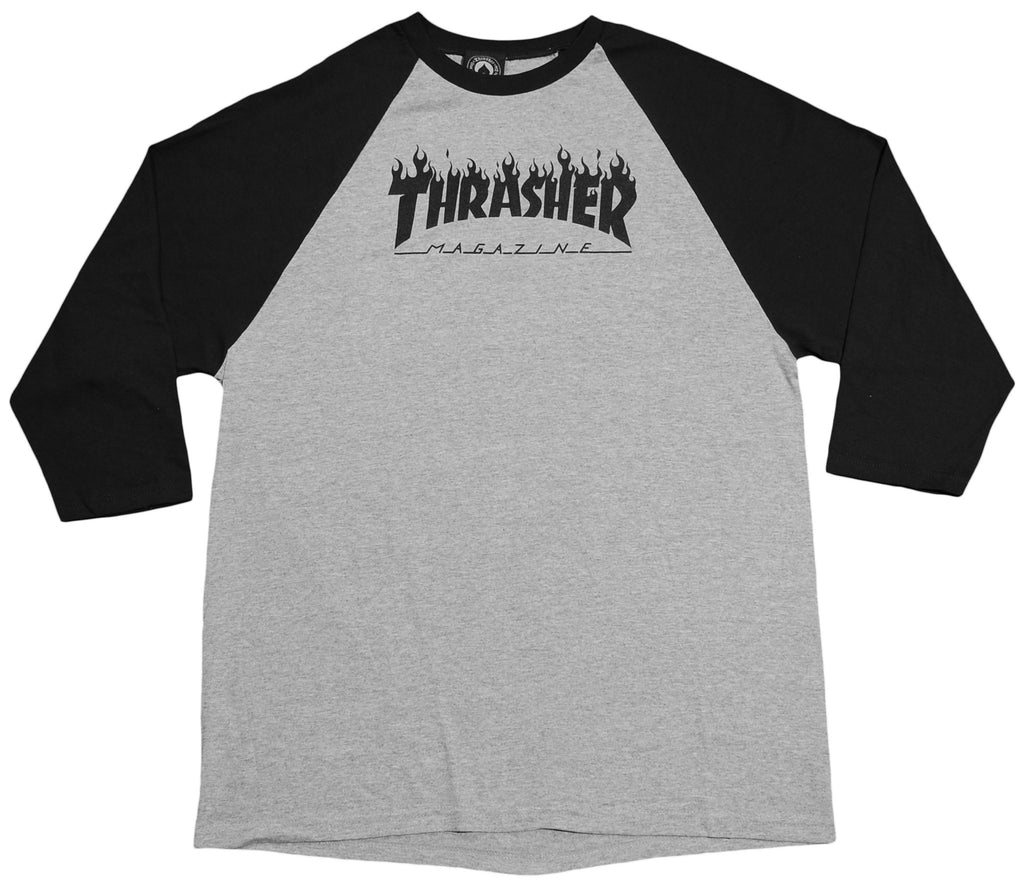 <!--2012100253-->Thrasher Magazine - 'Flame' [(Gray) T-Shirt]