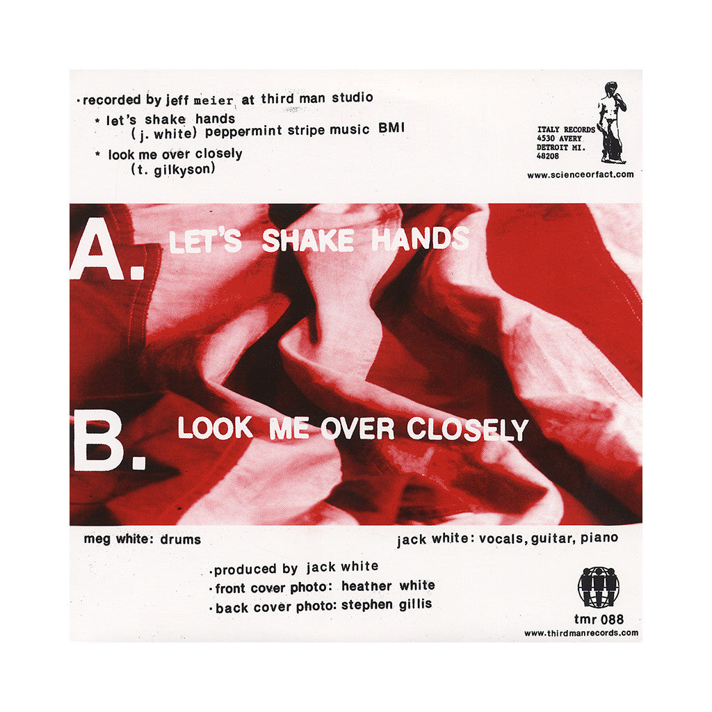 "<!--120110809000696-->The White Stripes - 'Let's Shake Hands/ Look Me Over Closely' [(Black) 7"" Vinyl Single]"